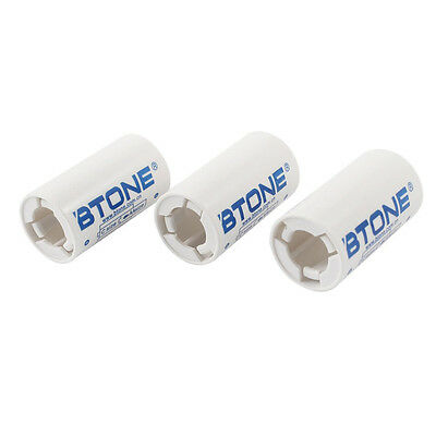 3 Pcs Plastic Shell AA to C Size Battery Adapter Converter Case SP