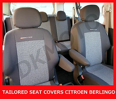 Tailored Seat Covers for Citroen Berlingo Multispace - full set grey 2