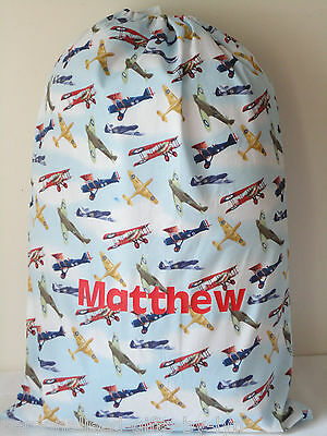 Personalised Aeroplane or Soldier Toy / Laundry Bag, Stuff bag