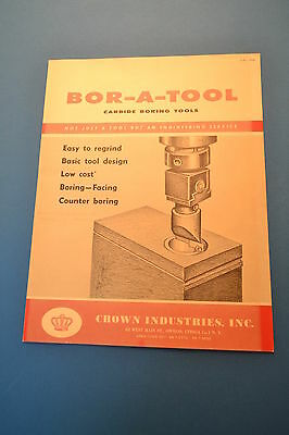 CROWN INDUSTRIES, INC. BOR-A-TOOL Boring tool CATALOG 500 (JRW #090)