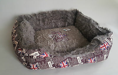 Large Dog Indoor Bed Cat Kitty Kitten Den Sofa England Cozy Puppy Soft Sleep