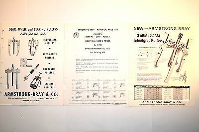 Armstrong Bray Gear Wheel Bearing Puller Catalog 900 + Price List + Flyer #rr786