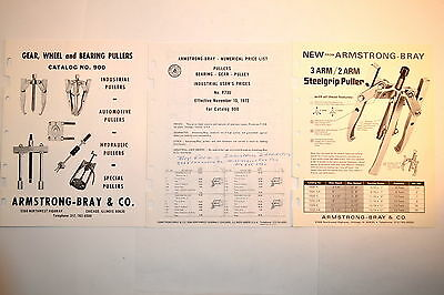Armstrong Bray Gear Wheel Bearing Puller Catalog 900 + Price List + Flyer #rr787