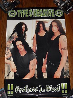 Vintage Type O Negative Brothers In Blood Concert Tour Poster 1996 Steele Goth