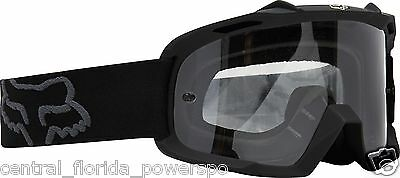 2015 Fox Racing Youth MX ATV AIRSPC Encore Goggle Goggles Matte Black