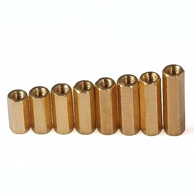 M3 x 4mm-60mm Hex Brass Spacer Female-Female Screw PC Motherboard Standoff Riser