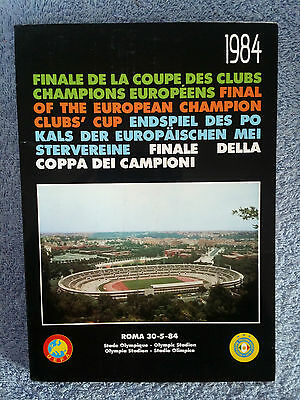 1984 - EUROPEAN CUP FINAL PROGRAMME - ROMA v LIVERPOOL - RARE BLACK BOOK EDITION