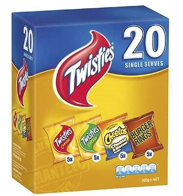 Twisties Mix 20 Pack 360g