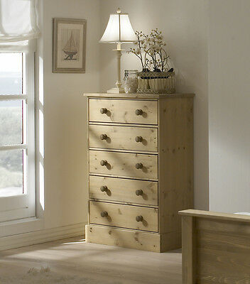 Balmoral Chunky Rustic Waxed Solid Pine 3 4 5 Drawer Chest of Drawers Dresser