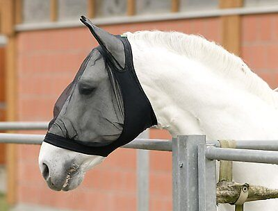USG Fly Mask with Ear protection - black Bow tie fly mask mask