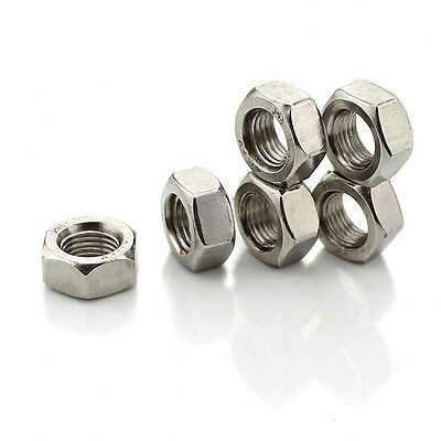 """1/8"""" 3/16"""" 1/4"""" 3/8"""" 1/2"""" 5/8"""" 3/4"""" BSW A2 304 Stainless Steel Hex Full Nuts"""