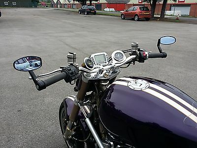Motorcycle 22MM Bar End Mirrors For Streetfighter Cafe Racer Bobber Retro Muscle
