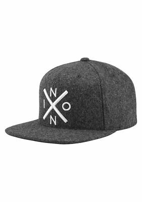 Nixon Exchange Snap Back Gray Sk8 Skateboard Hat Cap Kingpin Snapback New  Grey