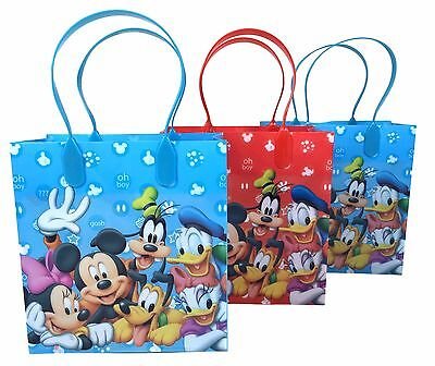 12ct Disney Mickey Mouse Friends Birthday Goody Gift Loot Favor Bags Party