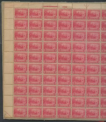 #329 Full Sheet/100 W/ Separations & Stock On Cardboard On (14) Stamps Wlm1269