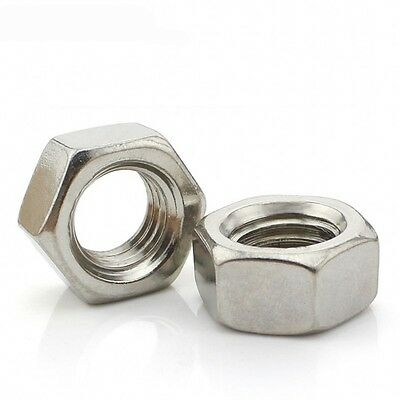 M1.6 M2 M2.5 M3 M4 M5 M6 M8 M10 Full Nuts DIN934 304 A2 Stainless Steel Hex Nuts