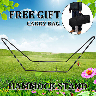 HOT Outdoor Heavy Duty Extra Large Metal Steel Frame Hammock Swing Chair Stand