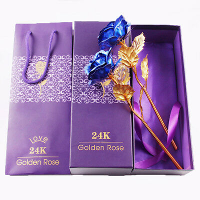 24K Luxury Gold Plated Rose Valentines Gift For Her Romantic Girlfriend Mum Wife