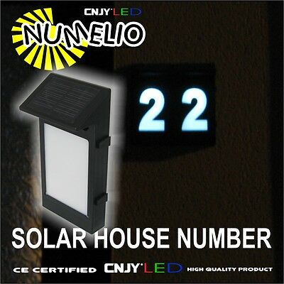1 Solar House Number All Letter And Number  Led Numelio Automatique Switch Night