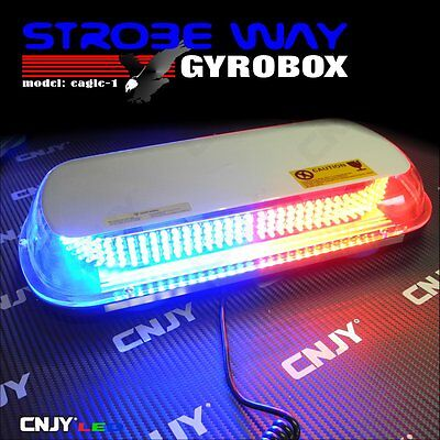Gyrobox 336 Beacon 12V 30W Led Car Towing Magnetic Roof Rail Red Blue Safety Car