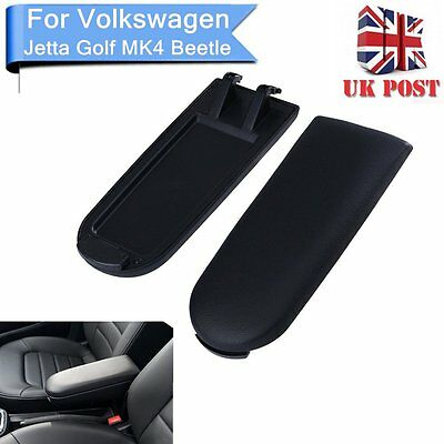 For VW Jetta Golf MK4 Beetle Black PU  Leather Center Console Armrest Cover Lid