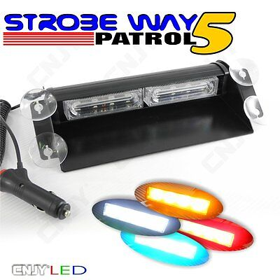 Feux De Penetration Led A Eclat Strobe Way Patrol 5 Flashing Pour Pare Brise 12V
