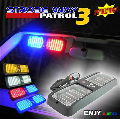 Feux De Penetration Pare Soleil -Brise Pace Car Strobe Light Flashing Flash Led
