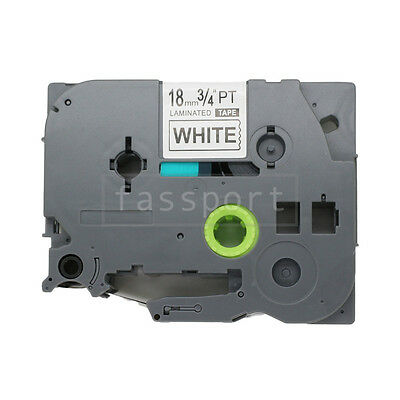"""1pk Black on White Tape Label Compatible for Brother PTouch TZ TZe 241 18mm 3/4"""""""