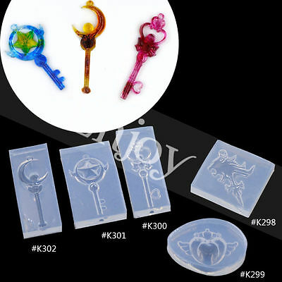 Japanese Anime Mold Transparent Silicone Sailor Moon Magic Wand DIY Crafts New