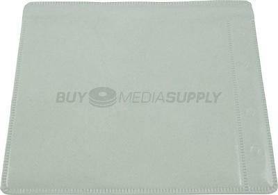 Non woven White Plastic Sleeve CD/DVD Double-sided Style #2 - 100 Pack