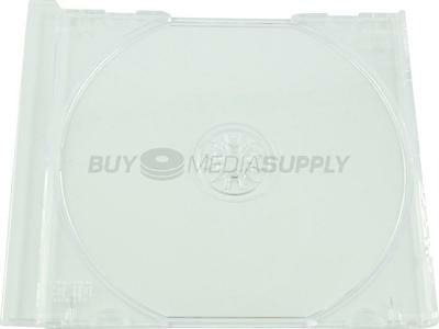 Replacement Clear Trays for Standard CD Jewel Case - 50 Pack