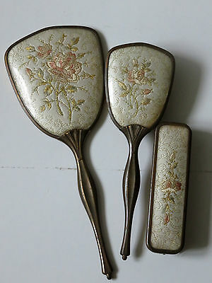 Embroidered Dressing Table Vanity Set Made In England