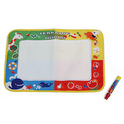 Baby 4 color Water Drawing Toys Mat Magic Pen Water Drawing Board SP