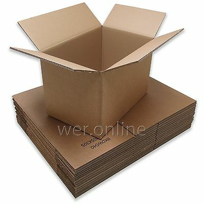 "18"" x 12"" x 12"" Strong Book Box Packing Postal Mail Double Wall Cardboard Boxes"
