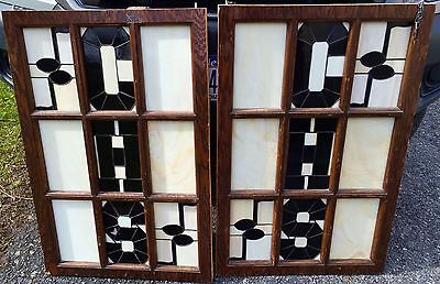 Stained Glass Windows Old Canajoharie High School Band Room Auditorium Doors