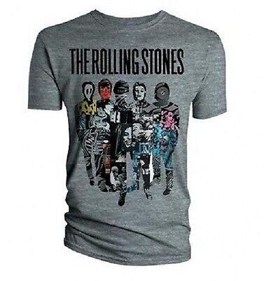 The Rolling Stones- Silhouette Collage - Official Mens T Shirt