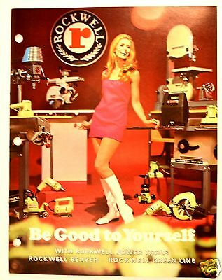 BE GOOD TO YOURSELF WITH ROCKWELL BEAVER POWER TOOLS CATALOG 1970 #RR54 lathe