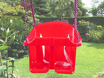 Red Baby / Toddler Plastic Bucket Swing Bucket Seat Rope Garden Climbing Frame
