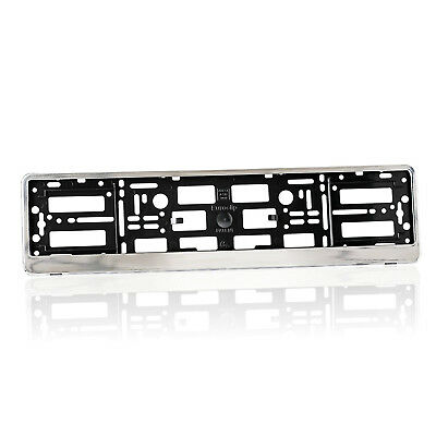 2 x Chrome Number Plate Holders Frames Licence Plate Surrounds for Any Car