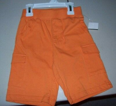 Boys Baby/toddler Okie Dokie Orange Long Shorts With 4 Pockets New With Tags