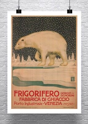 Vero Amore Bear Vintage Liquor Advertising Poster Canvas Giclee Print 24x32 in.
