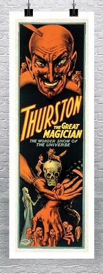 THURSTON THE GREAT MAGICIAN, Vintage Magic Poster CANVAS PRINT 17x45 in.