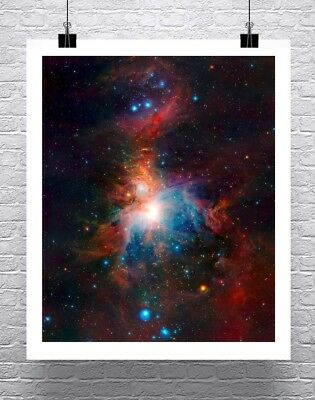 Deep Space Orion Nebula NASA Hubble Image Rolled Canvas Giclee Print 24x29 in.