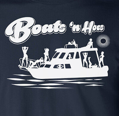 Boats And Hoes Funny  Step Brothers  Movie  Humor  Yacht  Boating Navy Tank Top