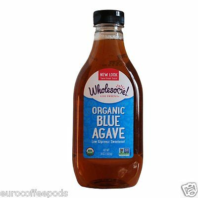 Wholesome Sweeteners - Organic Raw Blue Agave 2 x 1.02kg Low Glycemic Sweetener