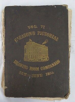 1854 Boston Illustrated Gleasons Vol VI Pictorial Drawing Room Companion Book