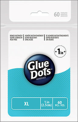 Extra Large Glue Dots Adhesive Clear 25mm ~60 Dots~Great Adhesion~UK STOCK