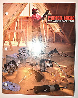 PORTER-CABLE PROFESSIONAL POWER TOOLS CATALOG 1988 #RR711 drill grinder nibbler