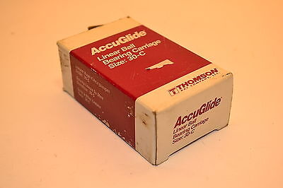 NOS THOMSON IND USA ACCUGLIDE LINEAR BALL BEARING CARRIAGE Size 30-C