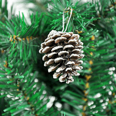 9x Pinecones Baubles Hanging Christmas Xmas Tree Holiday Decoration Pine Cone JK